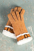 Women's Sheepskin Gloves with Buckle