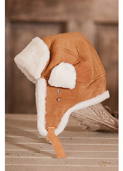 Sheepskin Aviator Hat with Earflaps