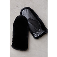 Women's Rex Rabbit Fur and Lambskin Leather Mittens