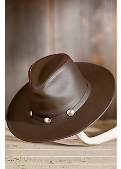 Dude Leather Buffalo Hat