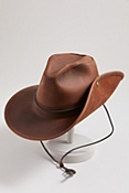 Aussie Distressed Leather Hat