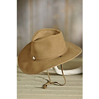 "Weekend Walker Cowhide Leather Hat, Camel, Size Medium (22.25"") Western & Country"
