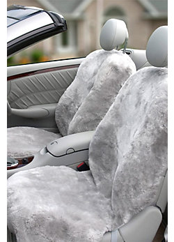 DC-4 Passenger Side Sheepskin Car Seat Cover with Custom Alterations