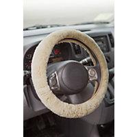 Sheepskin Steering Wheel Cover, Gobi (Tan) Western & Country