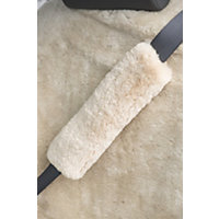 Sheepskin Seat Belt Cover, Pearl Western & Country