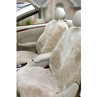 DC-57 Driver Side Sheepskin Car Seat Cover with Custom Alterations, PEARL, Size 1 Size