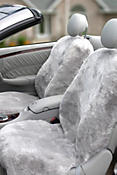 DC-55 Passenger Side Sheepskin Car Seat Cover with Custom Alterations