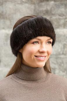 Knitted Finn Mink Fur Headband