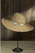 Women's Metallic Raffia Braid Sun Hat