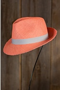 Women's Fringed Edge Panama Fedora Hat