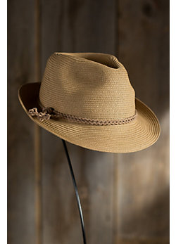 Fine Braid Straw Fedora Hat