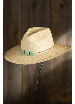 Women's Continental Braided Raffia Hat