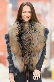Ramona Canadian Fox Fur Wrap