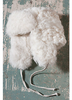 Russian-Style Curly Lamb Fur Aviator Hat