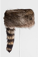 Davey Crocket Raccoon Fur Hat