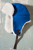 Melton Wool Aviator Hat with Sheepskin Trim