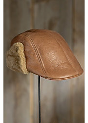 Shearling Sheepskin Ivy Cap with Ear Flaps