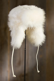 Russian Arctic Raccoon Fur Trapper Hat