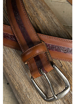 Southwark Embossed Leather Belt