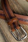 Southwark Embossed Leather Belt