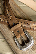 Longhorn Lace Leather Belt