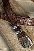 Southern Croc Embossed Leather Belt