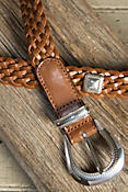 Indi Braided Leather Belt