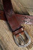 Acoma Etched Leather Belt