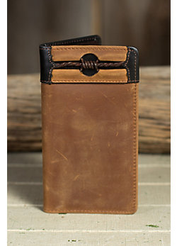 Fenced in Leather Checkbook Wallet