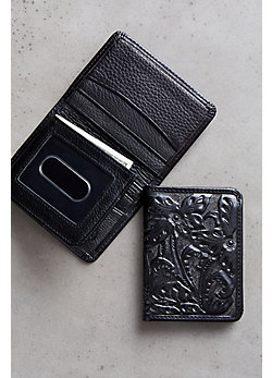 Las Flores Bifold Leather Wallet