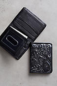 Las Flores Hand-Tooled Bifold Leather Wallet