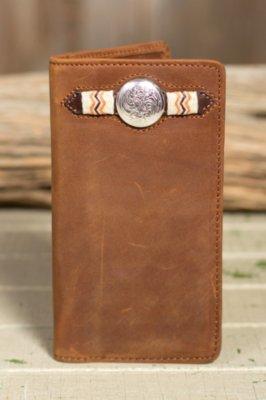 Buckaroo Leather Checkbook Wallet