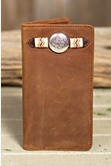 Buckaroo Leather Checkbook Wallet