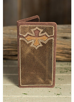 Crossin' the Line Leather Checkbook Wallet