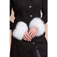 Vintage Scarves- New in the 1920s to 1960s Styles Womens Fox Fur Snap Cuffs WHITE Size 1 Size  2quotW x 9.25quotL $99.00 AT vintagedancer.com