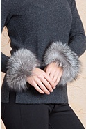 Women's Fox Fur Snap Cuffs