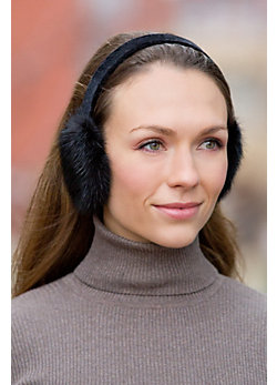 Women's Long Hair Mink Fur Earmuffs