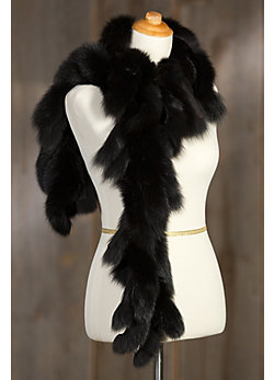 Women's Canadian Fox Fur Fringe Boa