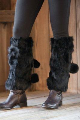 Women's Rabbit Fur Boot Toppers