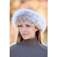 Women's Arctic Fox Fur Headband, Blush Western & Country