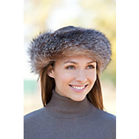 Fox Fur Headband CRYSTAL Size 1 Size $115.00 AT vintagedancer.com