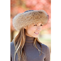 Edwardian Style Shawls Finn Raccoon Fur Headband $115.00 AT vintagedancer.com