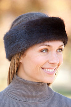 Mink Fur Headband