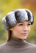 Women's Chinchilla Fur Headband
