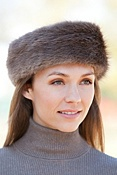 Women's Longhaired Beaver Fur Headband