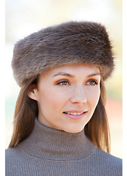 Women's Long-Haired Beaver Fur Headband