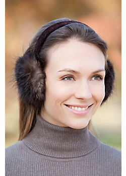 Women's Beaver Fur Earmuffs
