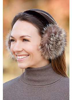 Women's Raccoon Fur Earmuffs