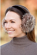 Raccoon Fur Earmuffs