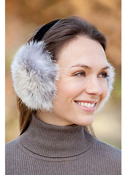 Women's Coyote Fur Earmuffs